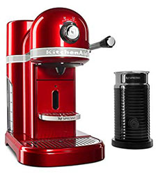 KitchenAid Nespresso Espresso Maker with Aeroccino Milk Frother